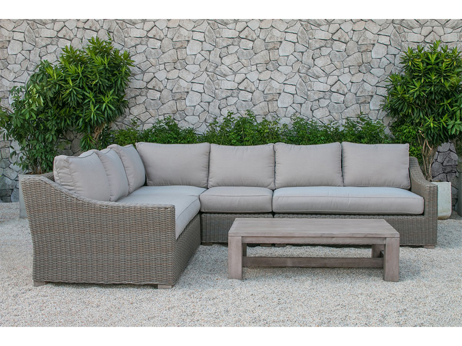 outdoor sectional sofa quinlan outdoor beige sectional sofa