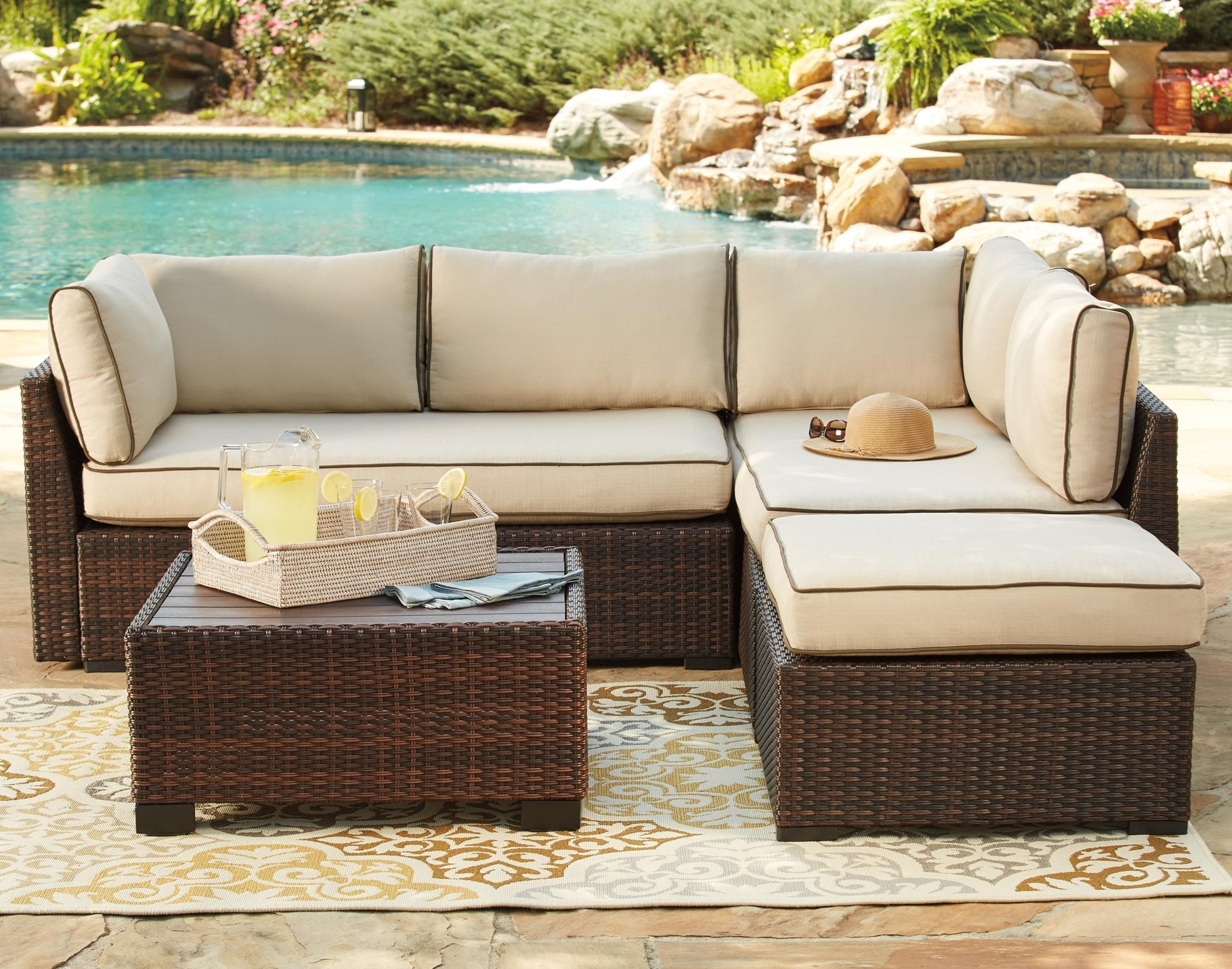 outdoor sectional sofa signature design by ashley loughranoutdoor