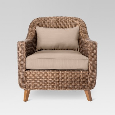 outdoor wicker furniture mayhew all weather wicker patio club chair - threshold™ : target MCRYHCO