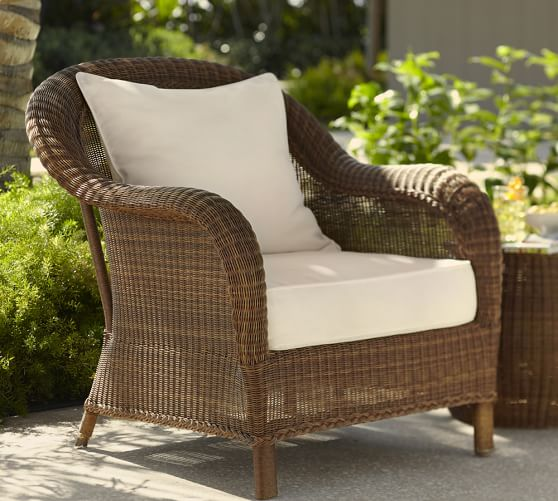 outdoor wicker furniture palmetto all-weather wicker armchair, honey GEWDTSS