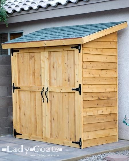 outside storage plans for a outdoor shed diy