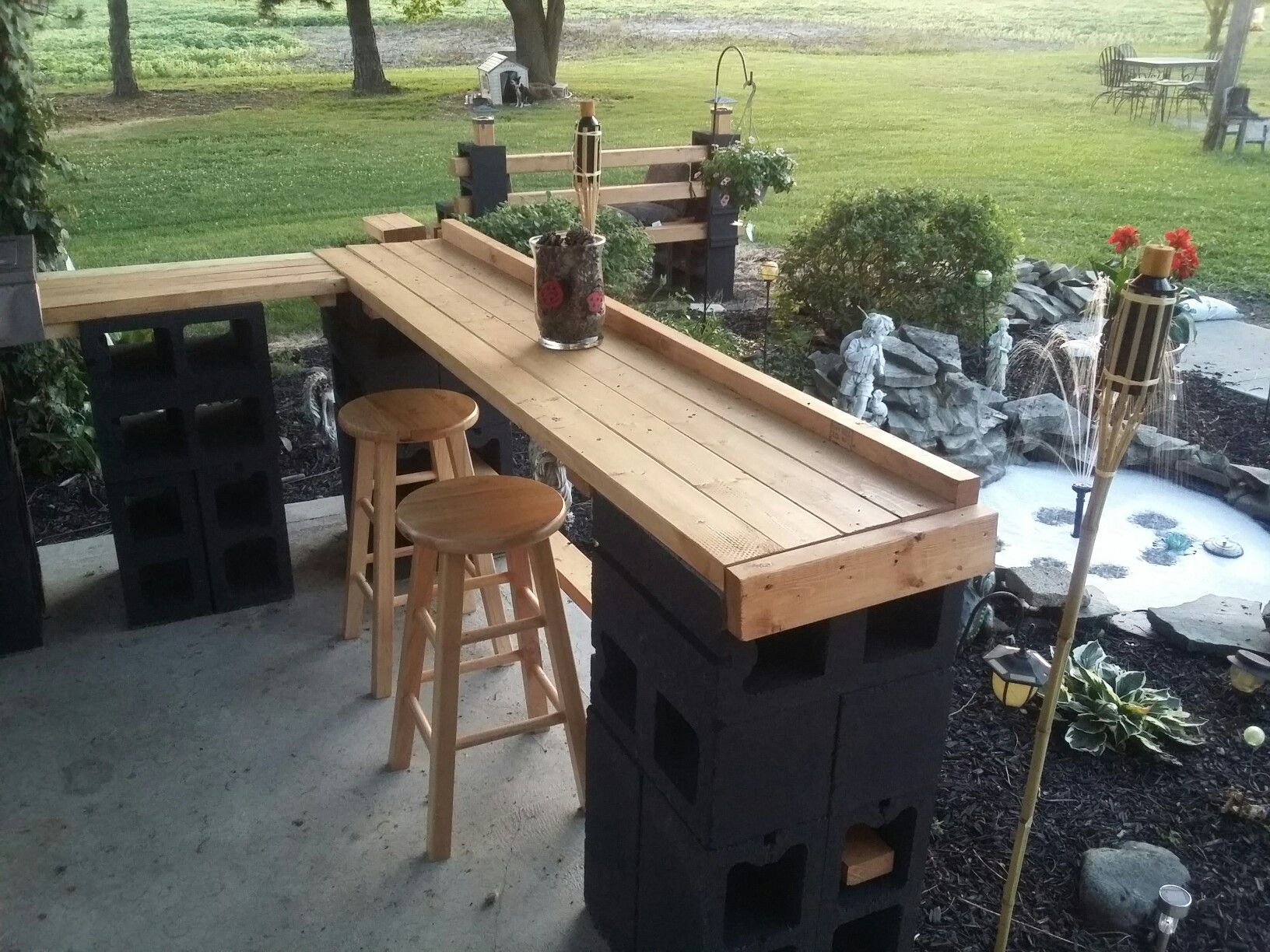 patio bars cinder block patio bar -janice lininger JXGLXOX