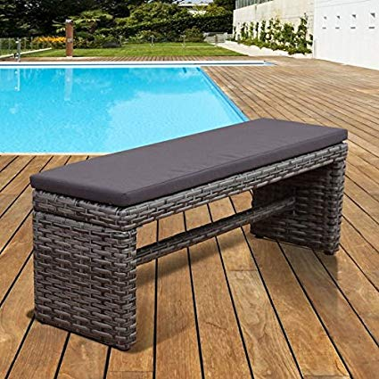 patio benches outdoor benches, patio bench,freeport wicker bench,grey 2-seater garden  bench WTXKSIE