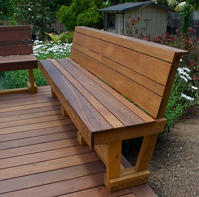 patio benches wood patio bench designs - 25 images SLGAFIJ