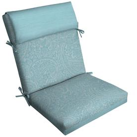 patio cushions allen + roth 1-piece spa blue kensley high back patio chair cushion EKGTEQC