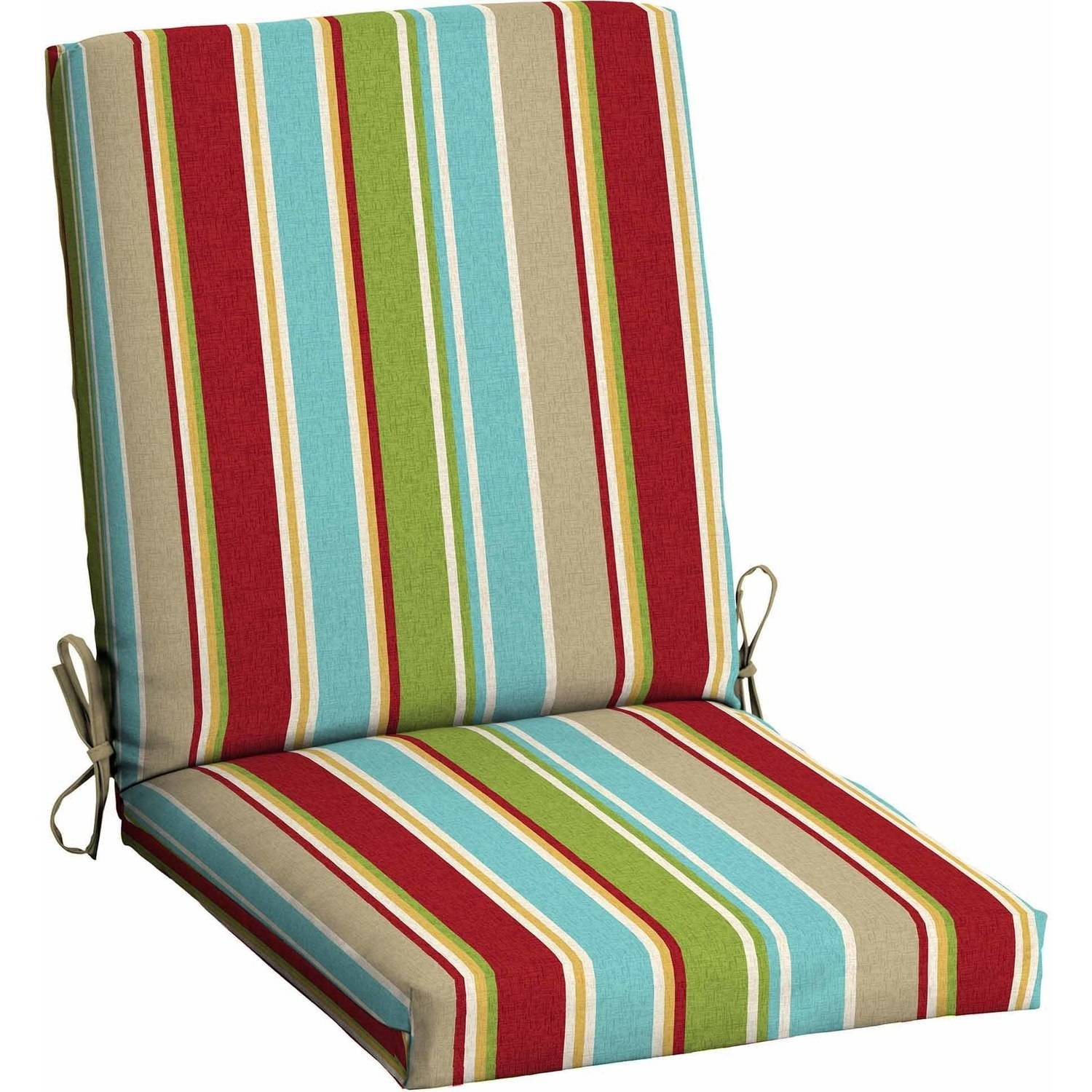 patio cushions mainstays outdoor patio dining chair cushion - walmart.com HDGSBAC