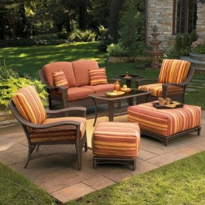 patio cushions marilla wicker conversation collection replacement cushions