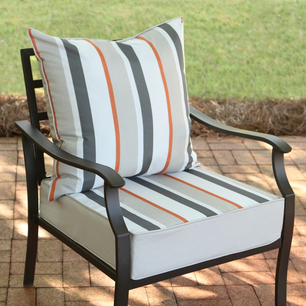 patio cushions striped patio furniture cushions KWNKQSC