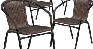 patio dining chairs three posts abrahamic stacking patio