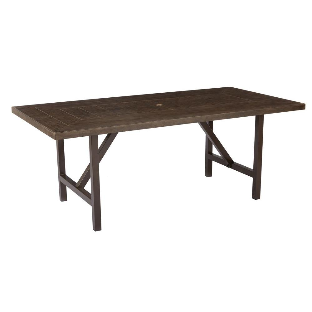patio dining table home decorators collection bolingbrook metal rectangular outdoor patio  dining table RUBNTLJ