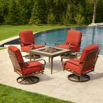 patio furniture hampton bay oak cliff 5-piece metal
