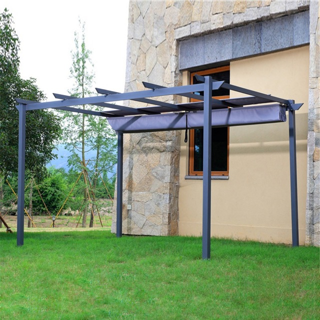 patio gazebo 2.8*4 meter deluxe strong practicability outdoor garden gazebo tent patio  pavilion JNTJOFM
