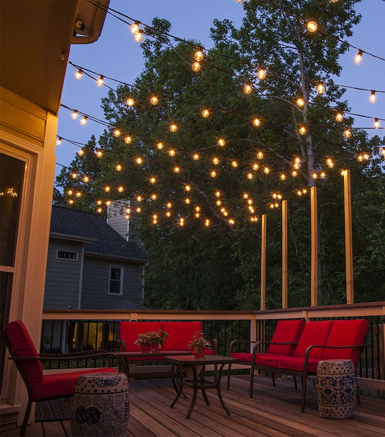 patio lighting hang patio lights across a backyard deck, outdoor living area or patio. BDLVOAI