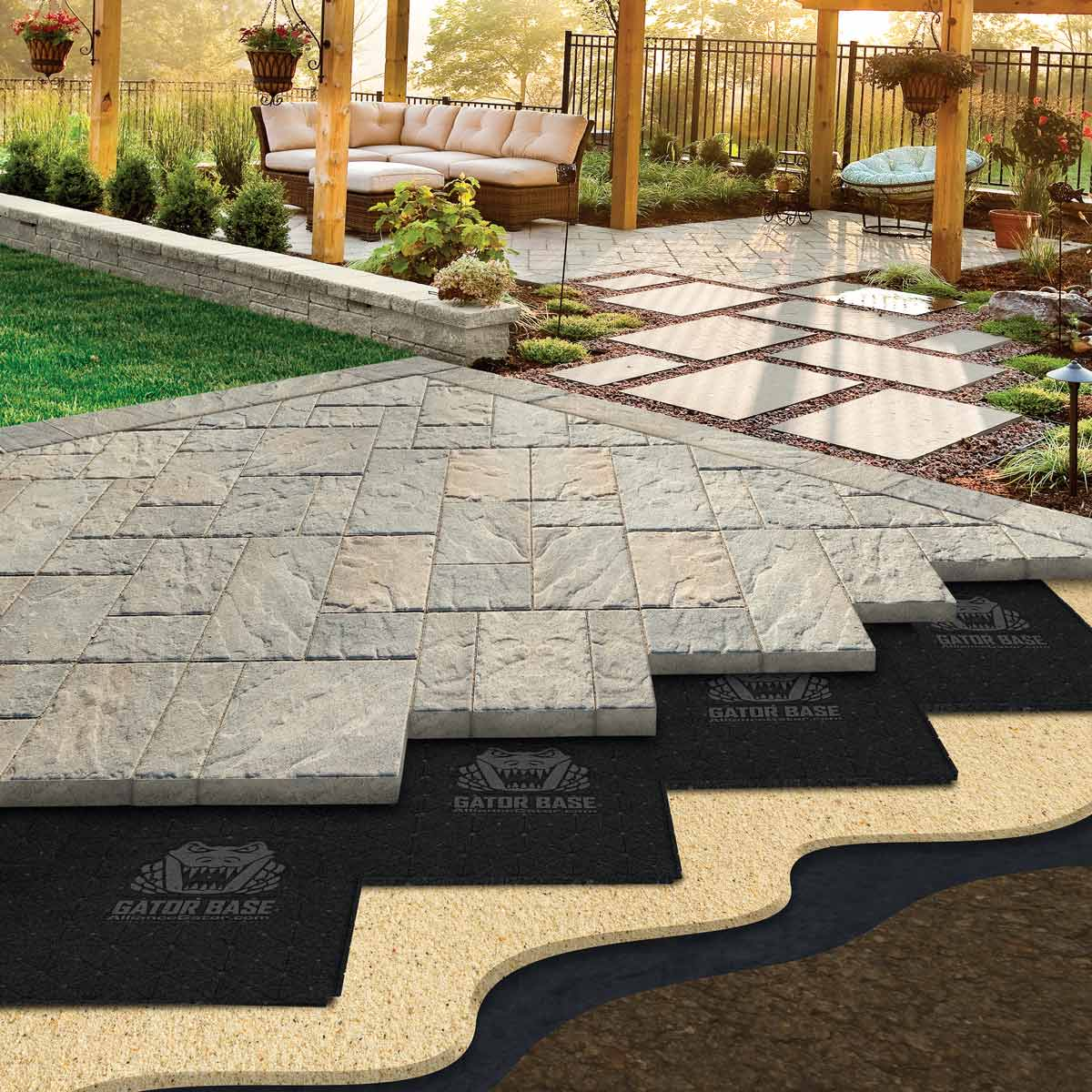 patio pavers easier paver base patios paver patio base WKTGDER