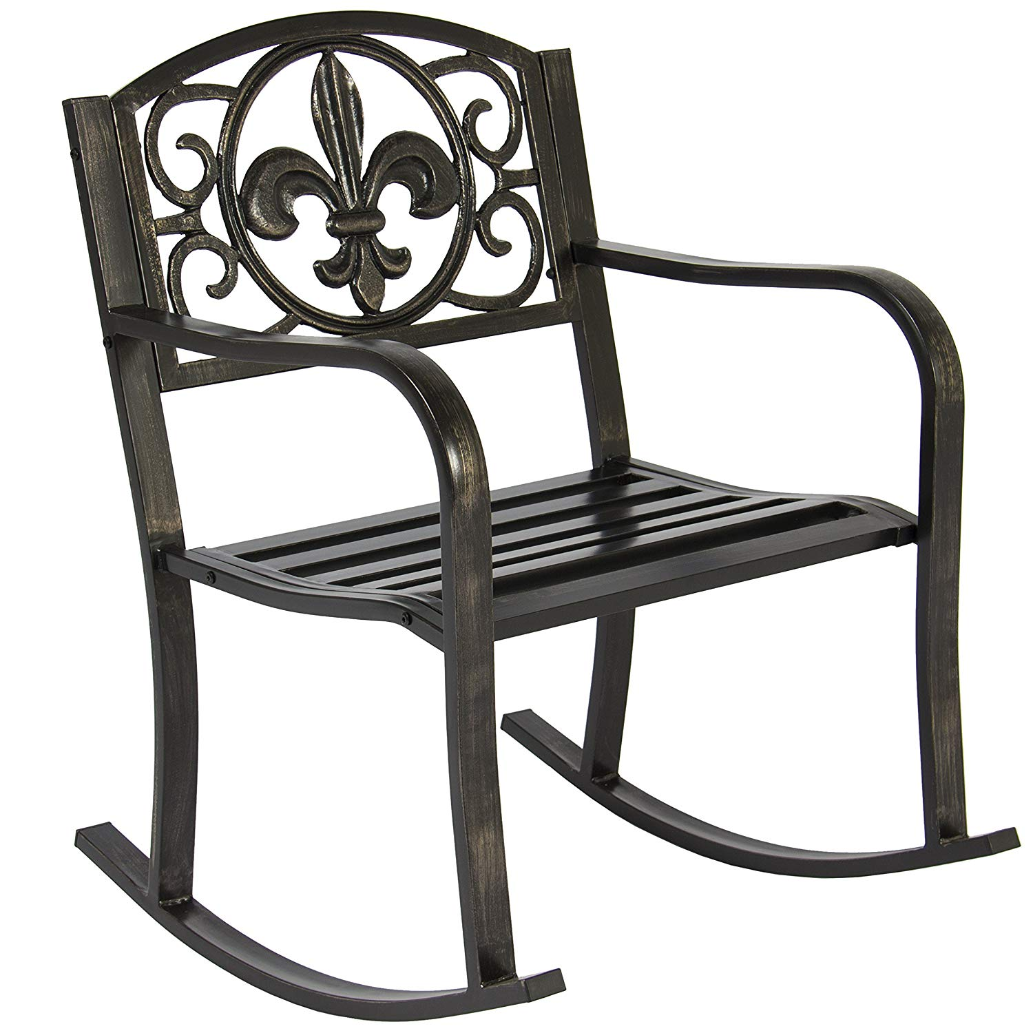 patio rocking chairs amazon.com : best choice products metal rocking chair seat for patio, OAKKVLR