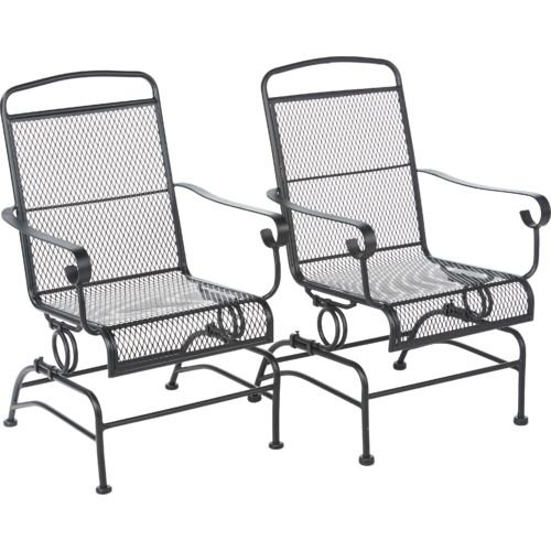 patio rocking chairs amazon.com : outdoor steel mesh patio rocking chair set : garden u0026 JWHGCZV