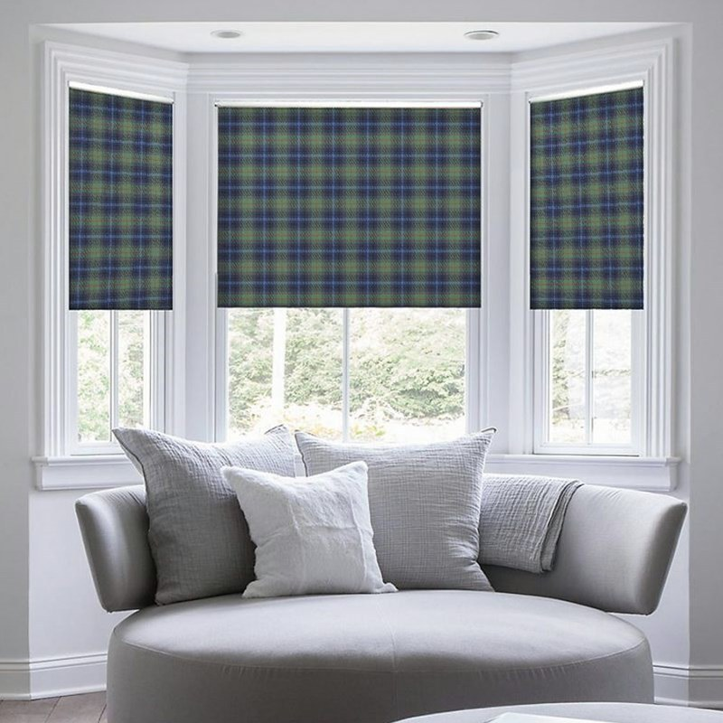 plaid roman blinds BFHXVAA