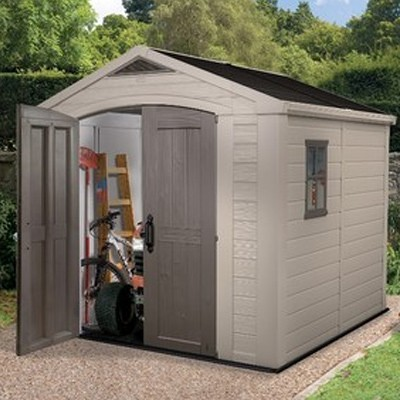 plastic garden shed looking for a keter 8×8 shed? this generous sized plastic shed is GXRSHPO