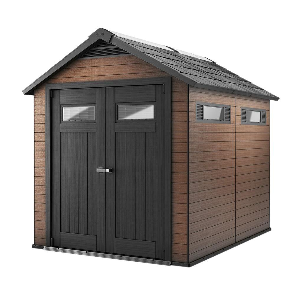 plastic sheds wood and plastic composite shed KAEFBXQ