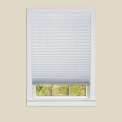 pleated shades 1-2-3 white vinyl room darkening window