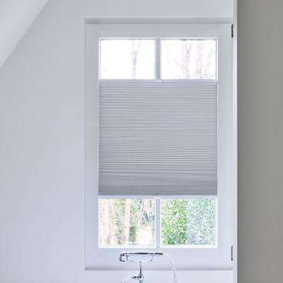 pleated shades cut-to-width white blackout polyester tensioned pleated