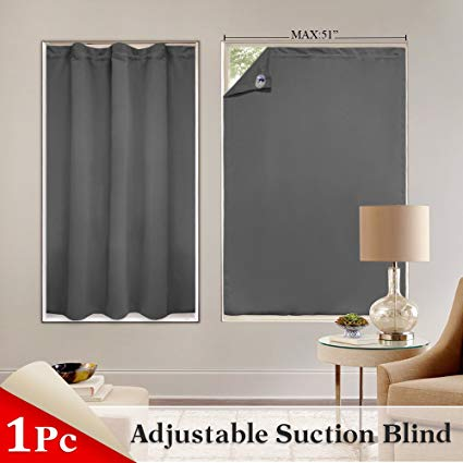 pony dance blackout blinds window cover portable adjustable travel blackout  curtains XUXIHJF