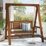 porch swings arianna hardwood hanging porch swing with
