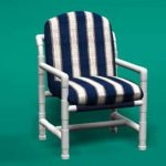 pvc patio furniture classic club chair FKIFHSY