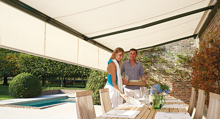 retractable awnings eclipse prestige cassette motorized retractable awning