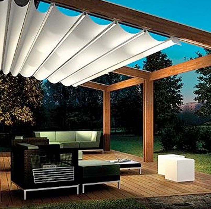 retractable canopy custom retractable awning - paradise outdoor kitchens - outdoor grills - ZMQRDHK