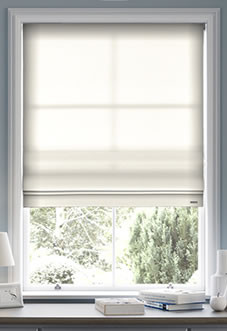roman blinds image for windsor, white - roman blind ... GFRQABD