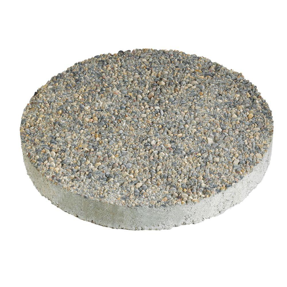 round stepping stones round exposed aggregate gray concrete step stone IRXLIXO
