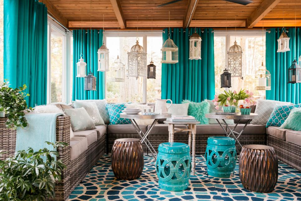 screened in porch ideas small screened-in porch decorating ideas | hgtv OGMJZBV
