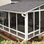 screened in porch white aluminum frame screen room