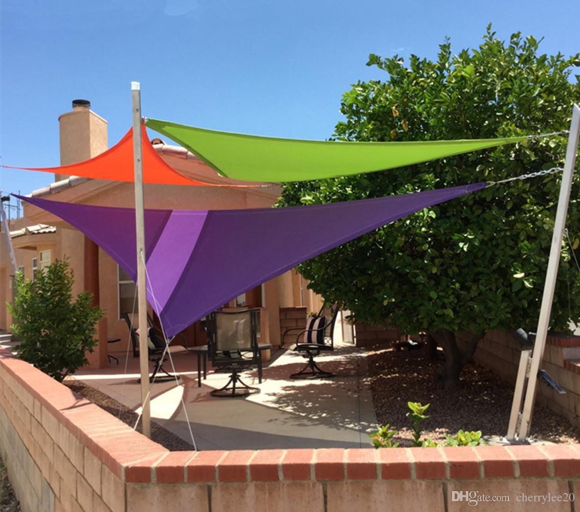 shade sails 2018 triangel shade sail sun shelter 3.6m x 3.6m x 3.6m uv LEJOFGJ