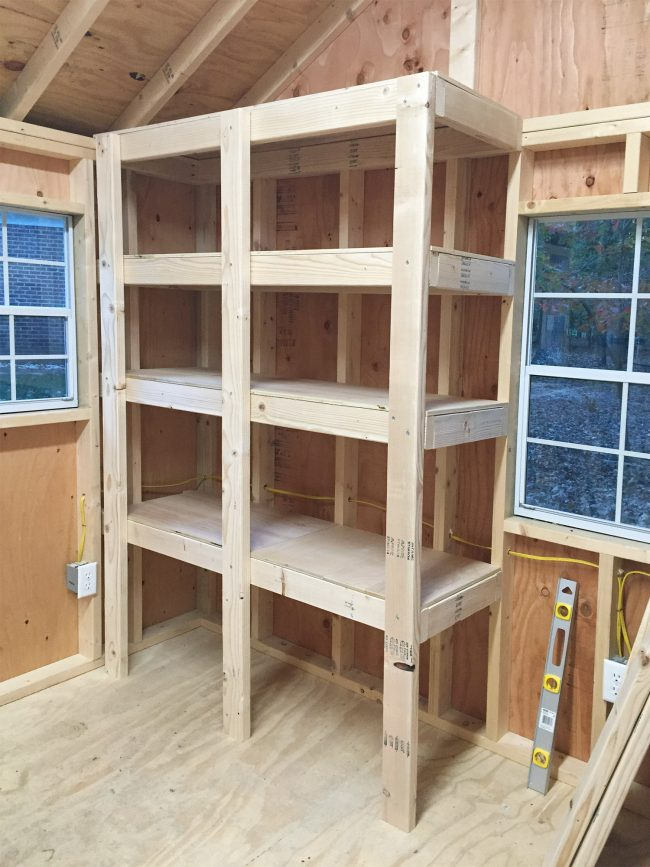shed storage ideas adding tops to diy wood shelves XDIFIKH