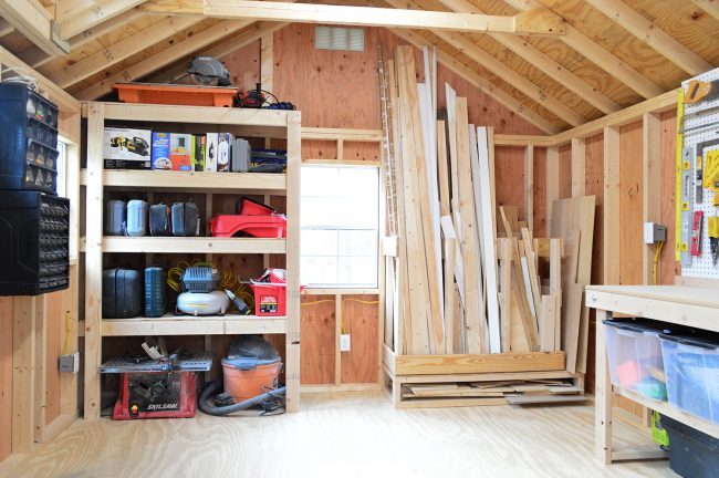 shed storage ideas garage organization wall QJAHBLR