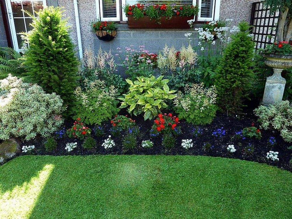 simple garden ideas 20 simple but effective front yard landscaping ideas BZAFDQK