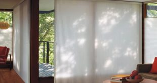 sliding door window treatments glass door window treatments - duette ... GNJHRQO