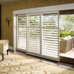 sliding door window treatments plantation shutters for sliding