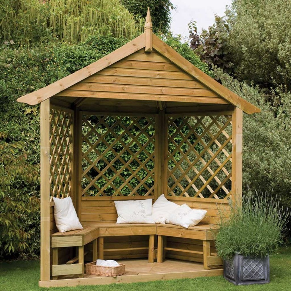 small gazebo garden , beautiful backyard garden ideas