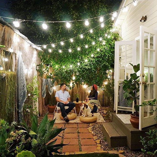 small patio ideas how to make a back garden without grass look green! (domino mag) EBAJTUQ