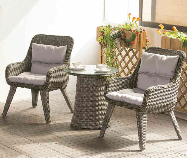 small patio table factory direct sale wicker patio furniture lounge chair chat set small KXTQBOZ