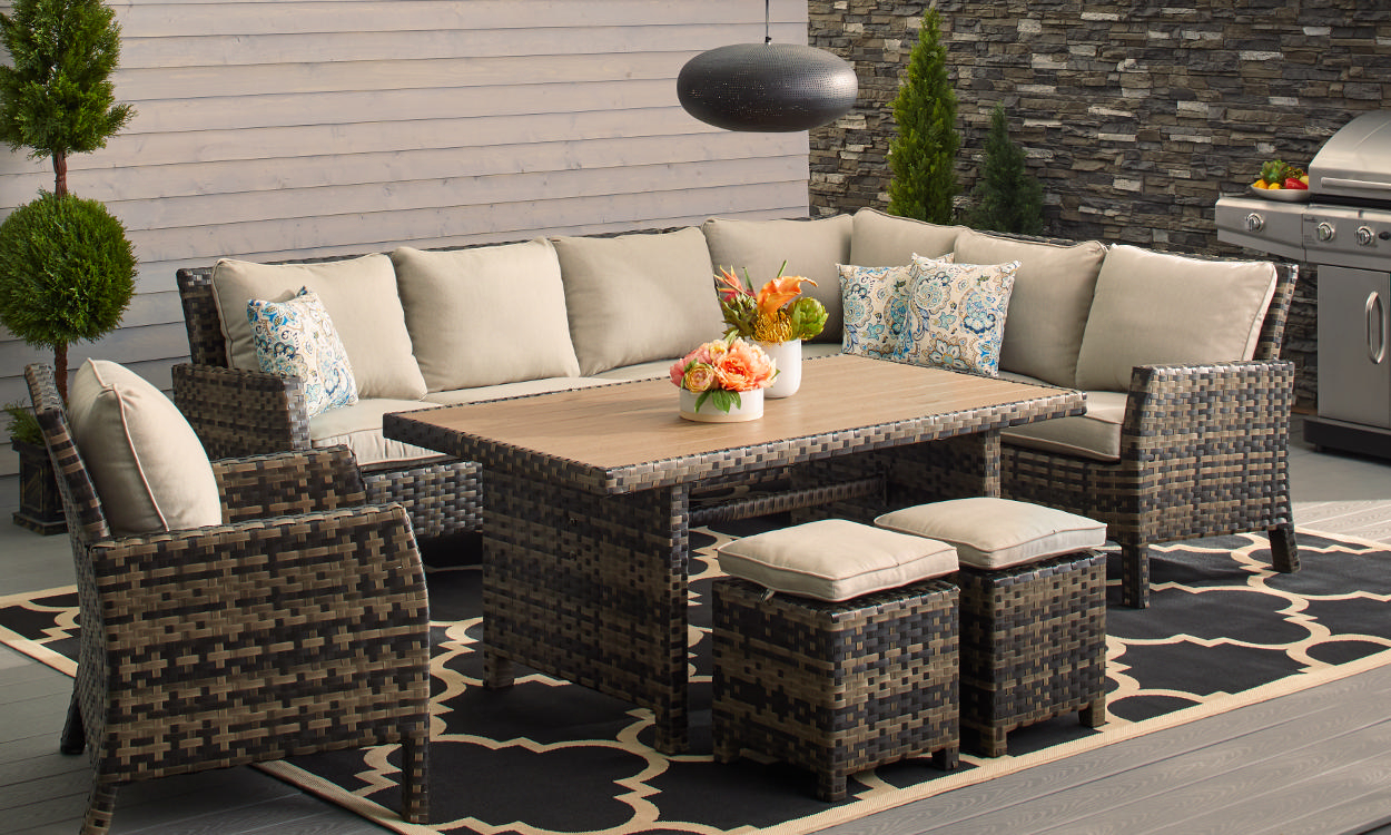 small patio table how to choose patio furniture for small spaces YEYGXBU