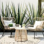 small patio table latigo 3pc all-weather wicker outdoor