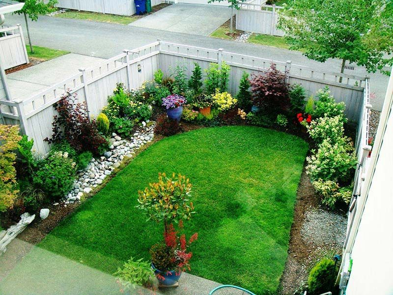 small yard landscaping design more KRJRSCU