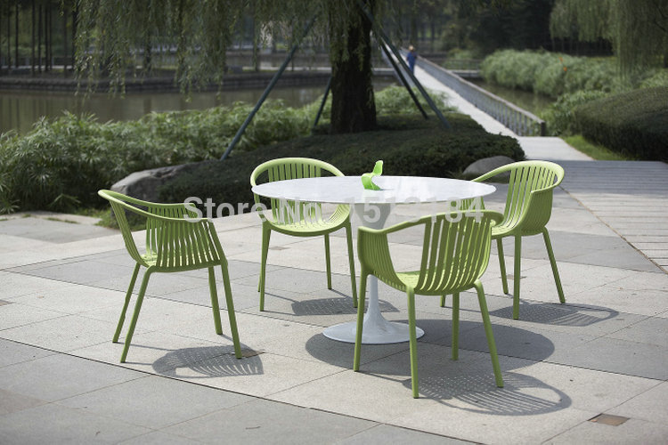 stacking plastic garden furniture rattan style outdoor chair-in garden  chairs from WJGMELI