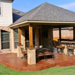 stamped concrete covered patio perfection UJFAYYT