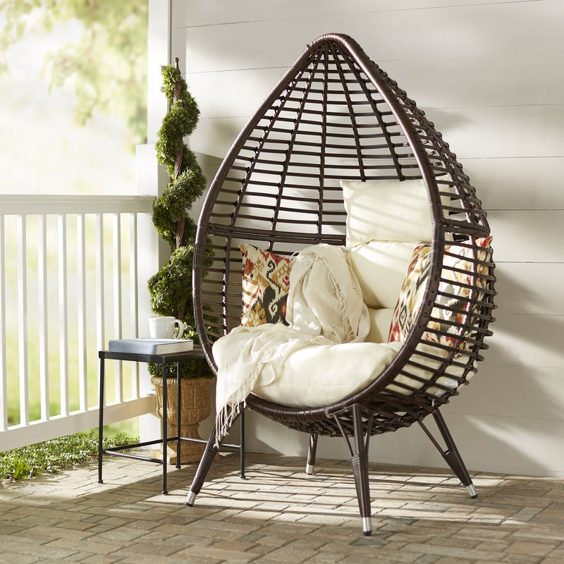 teardrop patio chair with cushions PDHEMOE