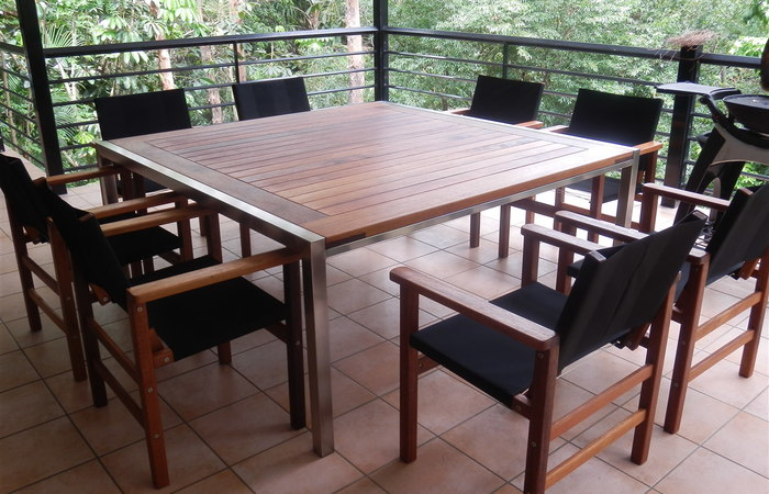 timber outdoor furniture ... modern patio and furniture medium size timber outdoor table and chairs WSHFLGP